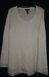 Style & Co. Creme Sparkle Knit Sweater 0X 3X Plus